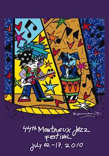 Romero Britto. Montreux Jazz Festival Poster 2010. Park West Gallery.