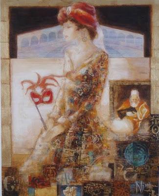 Peter Nixon. Venetian Colour – Gold (2009). Park West Gallery.
