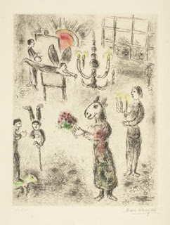 Celui qui dit les choses sans rien dire (Those who say things without saying). Marc Chagall.