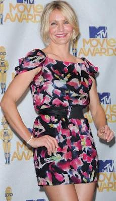 Cameron Díaz con vestido primaveral