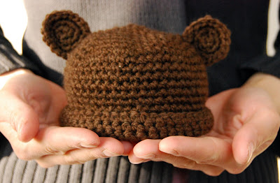 Crochet Baby Teddy Bear Hat Pattern : BABY BEAR HAT PATTERN FREE Knitting PATTERNS