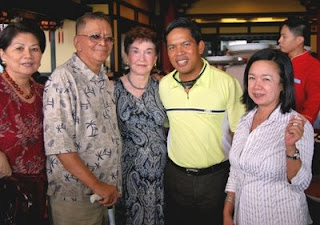 My first cousin, Girlie Barroga, parents, Ramon and Helen Limjoco, Fr. Fernando Suarez, Annette Ablan, Honorary Consul to Belarus.