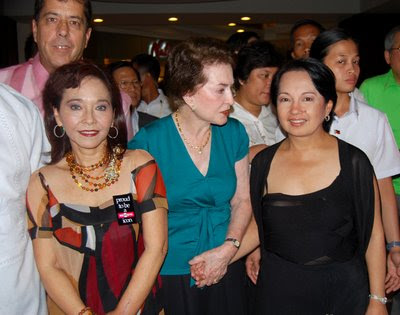 Dave Dewbre, my hubby in back, me, Diana Limjoco, mom Helen Limjoco with President Gloria Macapagal Arroyo who officially launched the book and autographed books for us