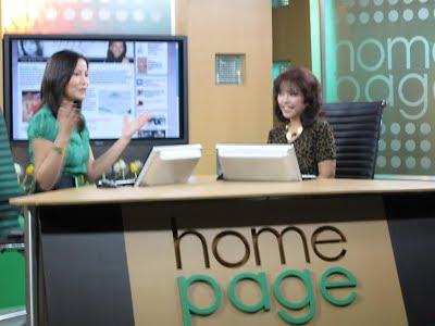 Diana Limjoco and show host Eunice Marino.