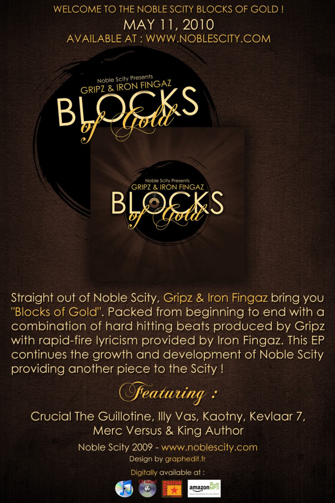 Gripz and Iron Fingaz - Blocks of Gold. For the next week, Gripz/GBuilding