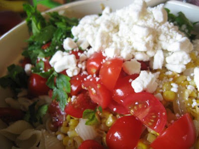Kitchen Bliss: Corn, Tomato and Basil Pasta Salad