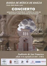 BANDA DE MÚSICA DE BAEZA - Director: Martín Morales Lozano - CONCIERTO de PASODOBLES TOREROS