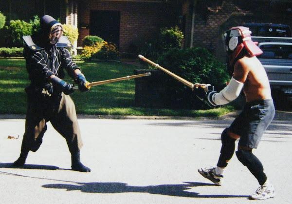 Antonio LaMotta vs. Chris Yax  (at John Davis' stickfighting class)