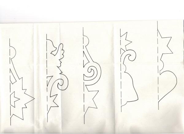 Объёмная гирлянда из бумаги своими руками схемы