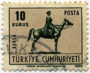 Bursa heykel atlı atatürk heykeli