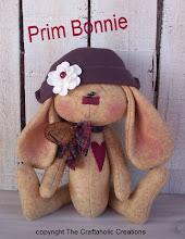 """Bonnie ~ 10"""" sitting bunny doll"""