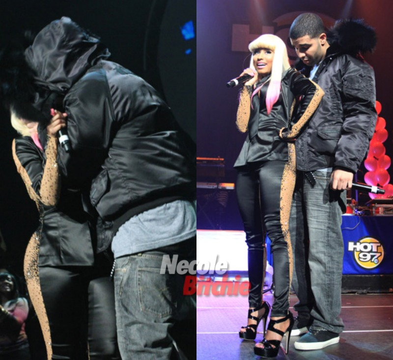 Other surprises included Drake Drake Kissing Lil Wayne On Stage
