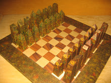 Chess Set & Board Decoupage