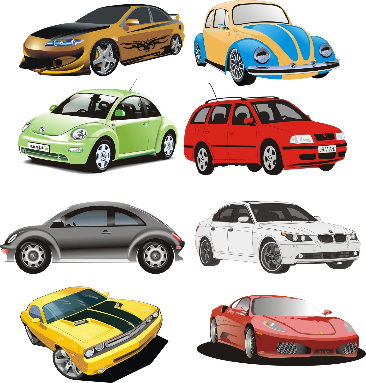 Cars Vector 3 | Corel Draw Tutorial and Free Vectors