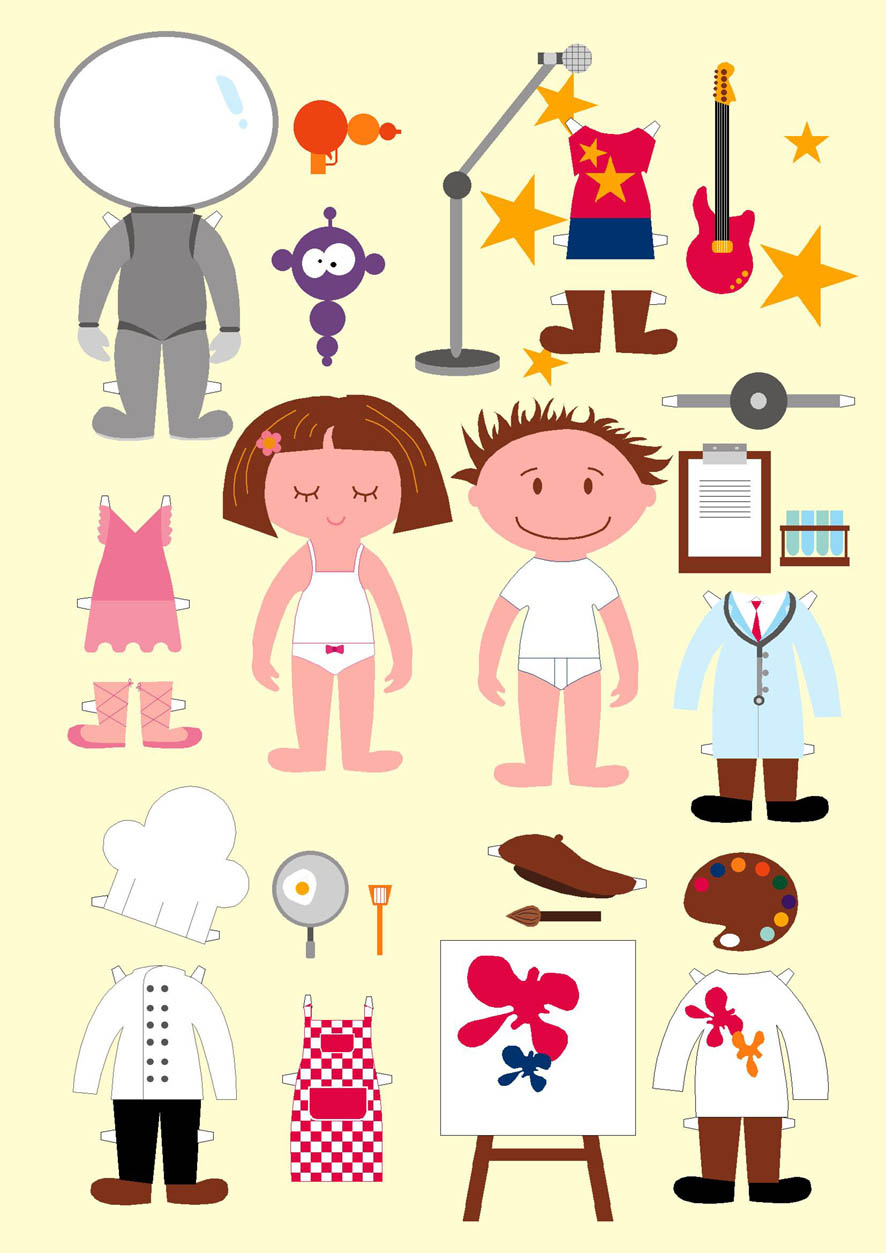 It's just a photo of Irresistible Downloadable Paper Dolls