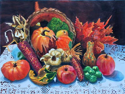harvest thanksgiving vegetable bounty wallpaper