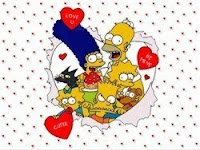 Printable simpson valentines day cards