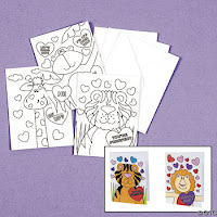 Color Your Own Valentine Cards