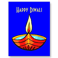 Diwali Real Paper Greeting Cards