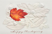 Fallen Leaves Thanksgiving Cards