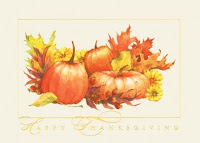 Fall Stream Recycled Thanksgiving Card