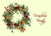 Thanksgiving wreath Greeting Cards