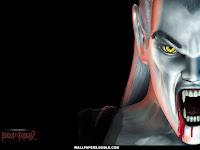 scary halloween dracula background
