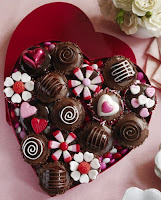 valentine chocolate candies gift card