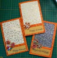 homemade cards for deepavali