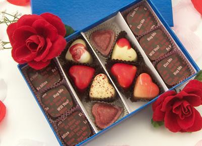 Valentine Chocolate Heart Truffle Gift