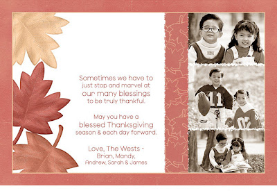 Happy Thanksgiving Digital Photo Card