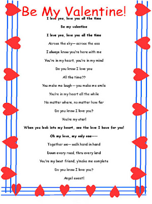Valentine Day Love Message Card