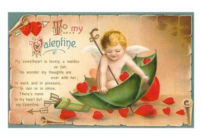 Valentine day poem card