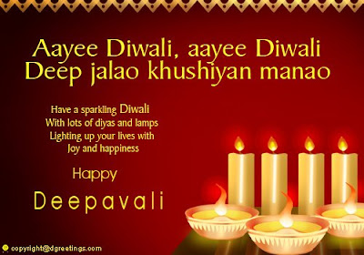 Diwali candle cards