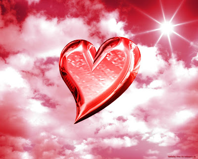 Love Is In The Air Heart Greeting Card