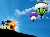Valentines Day Helium Hot Air Balloon