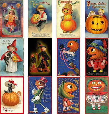 Old Fashioned Halloween Cards 24 Cards