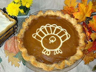 Turkey Pumpkin Pie For Thanksgiving