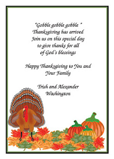 Printable Thanksgiving Cards For Invitation