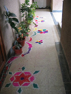 Diwali Decoration with Rangoli