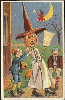 antique postcard for halloween