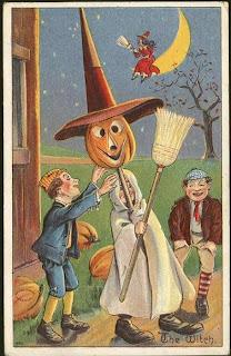 antique postcard for halloween