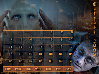 2009 Halloween Calendar Wallpapers