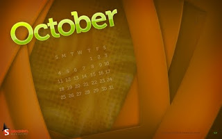 Halloween October Calendar Wallpaper