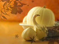 Pumpkin Wallpaper with White Chocolate