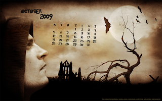 october 2009 halloween calendar wallpaper