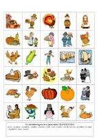 thanksgiving picture flash cards