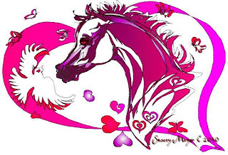 Horse Valentine Greeting Cards
