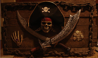 Pirates Skull Halloween Wallpaper