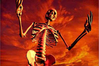 red skeleton for halloween